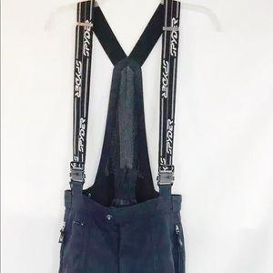 Spyder ski snowboard pants bib  suspenders sz M
